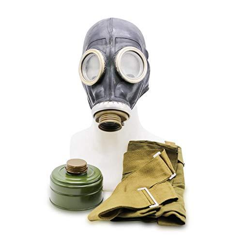 OldShop Set Maschera Antigas GP5 – Replica di Maschera Militare Sovietica Russa Dimensioni XS