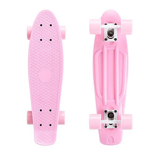 SkateBOLT Alouette 27 pulgadas Mini Penny Skateboard Cruiser Tabla completa para niños...