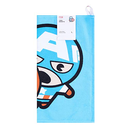 MINISO Marvel Hand Towel for Kids Baby 28'x13' Soft 100% Cotton Bath Towels for Bathroom Children Adults Cartoon Cute Hand Towel- Captain America