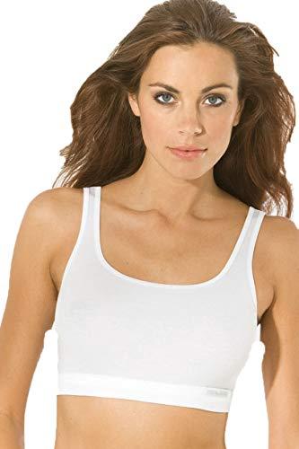 Speidel Damen Bustier Sport Edition BH Fitness Unterwäsche 100% Bio Baumwolle Farbe weiß Größen 38-46 Größe 46