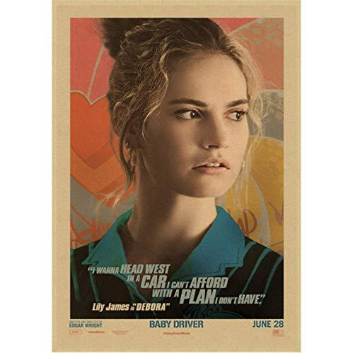 danyangshop Drucken Sie Auf Leinwand Kinderfahrer Filmplakat Wohnkultur Wanddekoration Gemälde Vintage Poster Bild Wandaufkleber B707 (50X90Cm) Ohne Rahmen