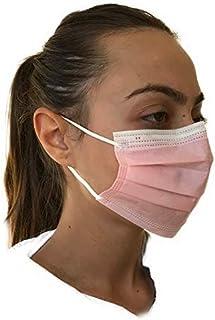 Made in Italy-20 mascherine chirurgiche certificate CE vari colori (rosa)