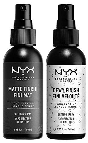 NYX PROFESSIONAL MAKEUP Makeup Setting Spray Matte Finish + Dewy Finish, Combo,2 Count