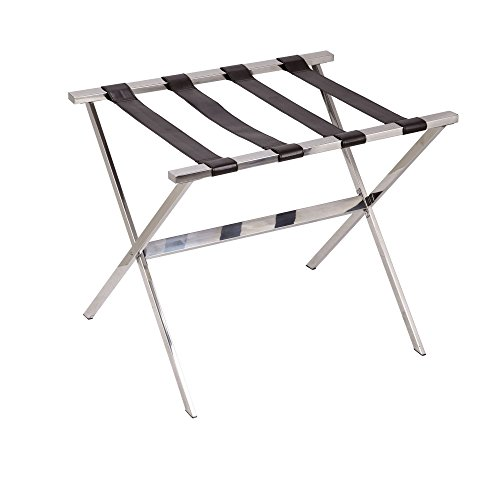 Best Review Of Household Essentials Luggage Rack, Stainless Steel