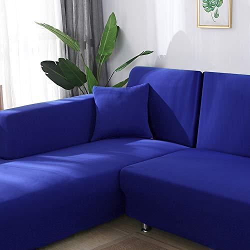 Funda Elástica de Sofá 1/2/3/4 Plazas con Funda de Cojín de 2 Piezas,Universal Cubierta para Sofa,Decorativas Fundas de Sofa Ajustables Protector (1 Plaza )