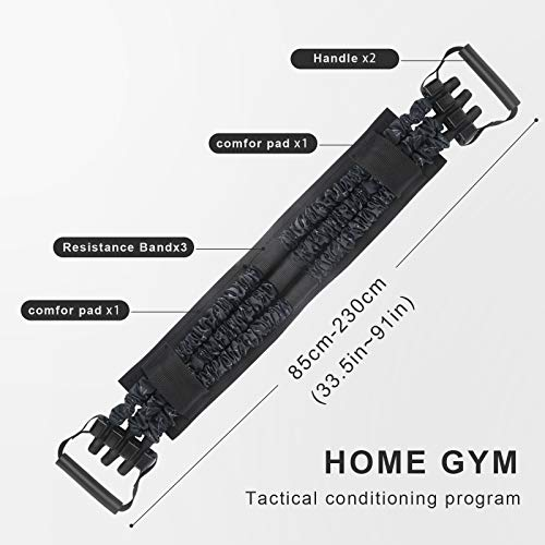 TOCO FREIDO Adjustable Bench Press (210LBS),Push Up Resistance Bands, Fitness Workout Equipment, Chest Builder Expander Resistance Training for Home Workout, Gym
