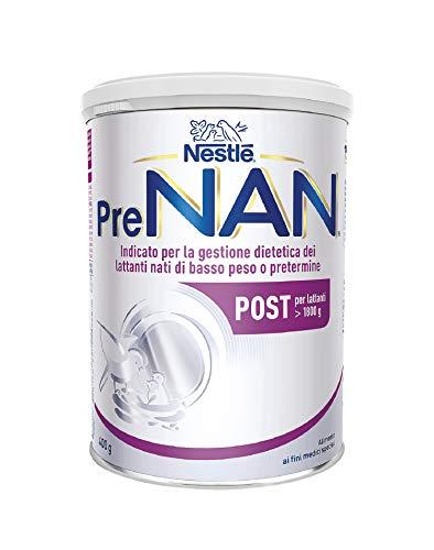 Nestlé PreNAN Post Polvere, Alimento a Fini Medici Speciali Indicato per la Gestione Dietetica dei Lattanti di Basso Peso alla Nascita E/O Pretermine, Latta 400 g
