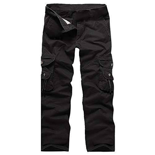 NPRADLA 2019 Pantalons à Boutons Hommes Outdoors 2019 Casual Nouveau Printemps éTé Mode Pantalons De Travail à Poches Multiples Pants Long Cargo Coton