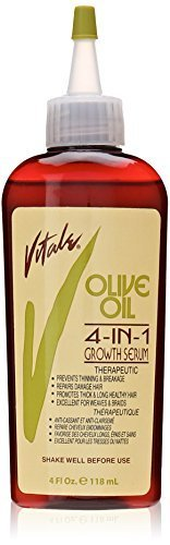 Vitale Olive Oil 4 in 1 Growth Serum, 4 Ounce by VITALE