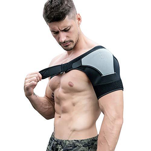 Hombrera Ajustable para Hombre y Mujer, Totill Hombrera Neopreno Transpirable, para Prevención y Recuperación de Lesiones Deportivas, para Dolor en el Hombro, Hombros Artríticos, Izquierdo y Derecho
