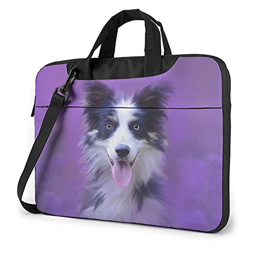 Laptop Sleeve Bag Dog Muzzle Portrait Tablet Briefcase Ultraportable Protective Canvas for 13 inch MacBook Pro/MacBook Air/Notebook Computer