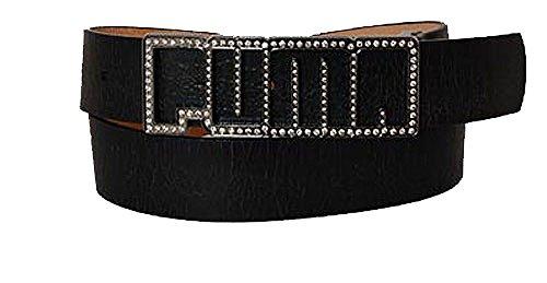 PUMA Damengürtel fashion belt leather black 90cm
