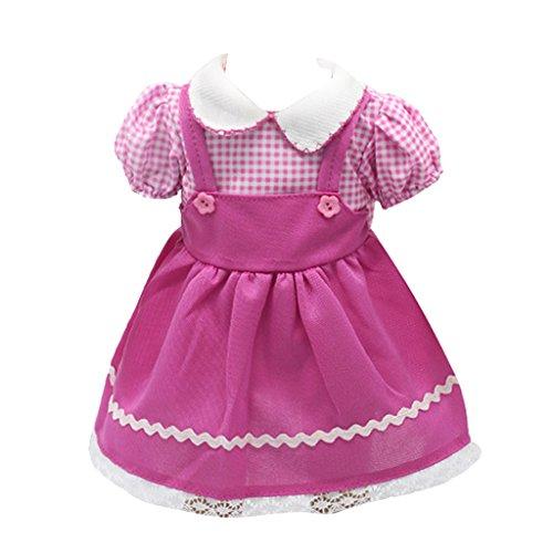 Rosa Hosenträgerrock-Gesamt Kleid Für 18-Zoll-amerikanische Mädchenpuppen
