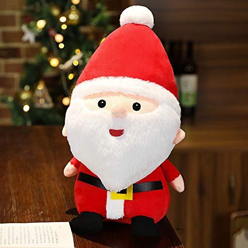 YUY Juguetes De Peluche De Navidad Adornos De Decoración De Interiores De Navidad Juguetes Lindos para Niños Juguete De Peluche De Navidad para La Fiesta De Navidad Decoración del Hogar,Red