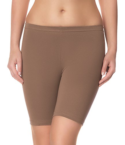 Ladeheid Damen Shorts Radlerhose Unterhose Hotpants Kurze Hose Boxershorts LAMA04 (Beige16, 4XL/5XL)