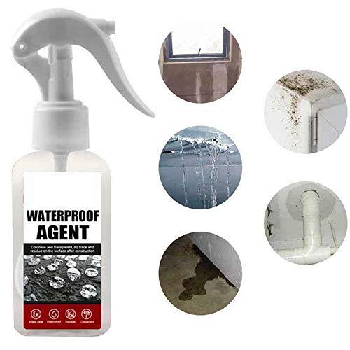 3 piezas Mighty Sealant Spray - 100 ml, de fugas para techos y paredes exteriores,se puede reparar inmediatamente Nano Agente impermeable Pegamento Adhesivo Reparación de paredes de azulejos