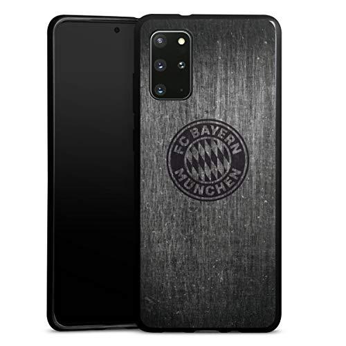 DeinDesign Silikon Hülle kompatibel mit Samsung Galaxy S20 Plus Case schwarz Handyhülle Metallic Look FCB FC Bayern München