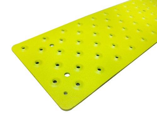Handi-Treads rutschfeste Aluminium-Stufenmatte, pulverbeschichtet, Sicherheitsgelb, 9,5 x 76,2 cm, mit farblich passenden Holzschrauben 3.75 x 30 gelb
