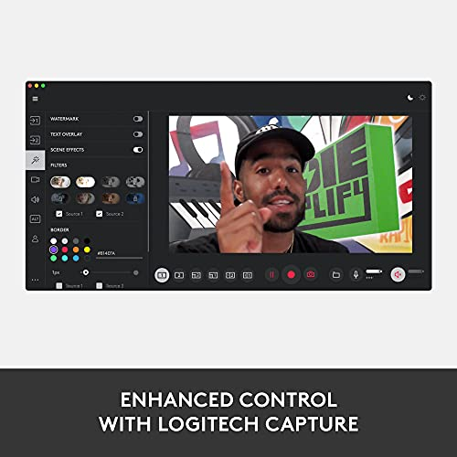 Logitech StreamCam – Live Streaming Webcam for Youtube and Twitch, Full 1080p HD 60fps, USB-C Connection, AI-enabled Facial Tracking, Auto Focus, Vertical Video - GRAPHITE