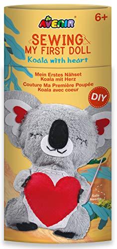 Avenir DIY Nähset, Sewing Koala, Bastelset für Kinder, Kreativ-Set, ab 6 Jahren