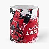 5TheWay Mug Charles Leclerc Ferrari Tazza da caffè 11 oz miglior Regalo