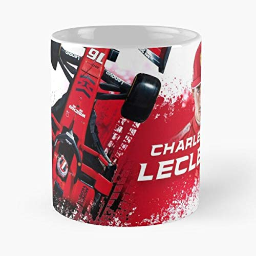 5TheWay Mug Charles Leclerc Ferrari Standardkaffee 11 Unzen Geschenk Tassen für alle