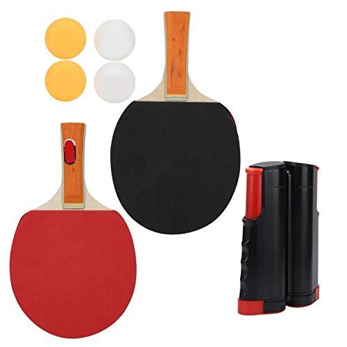 Emoshayoga Rack Rackets Ping Pong Balls Accesorios de Entrenamiento Juego de Tenis de Mesa Duradero para Tenis de Mesa para competición