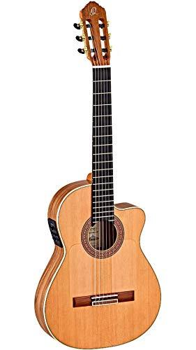 Ortega Guitars 6 String Signature Series Made in Spain Ben Woods Flamenco Acoustic-Electric Nylon Classical Guitar w/Bag, Right (BWSM/2)