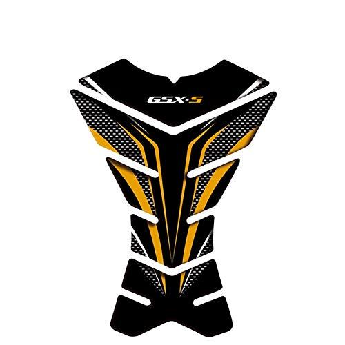 Interesante Pegatina del tanque de combustible de la motocicleta Motocicleta 3D Etiqueta de la almohadilla del tanque de combustible 3D Calcomanías protectores para la calcomanía de pescado GSX-S GSXS