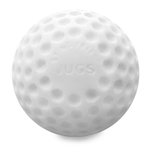 Jugs Sting-Free Dimpled White Baseballs - 1 Dozen
