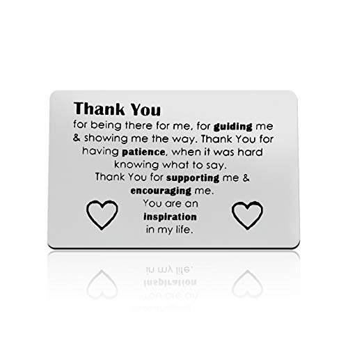 Thank You Gifts for Teacher Coworker Friends Thank You for Being There for Me for Guiding Me and Showing Me the Way Wallet Card Appreciation Gifts for Mentor Guidance Counselor