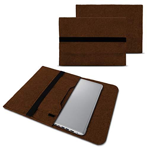 NAUC Notebook Tasche kompatibel für Lenovo Yoga 520 14 Zoll Hülle Filz Sleeve Hülle Schutzhülle Cover, Farben:Braun