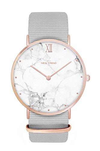 New Trend - Love for Accessories Damen Uhr analog Quarzwerk mit Nylon Armband K5-KGO3-2M3Z