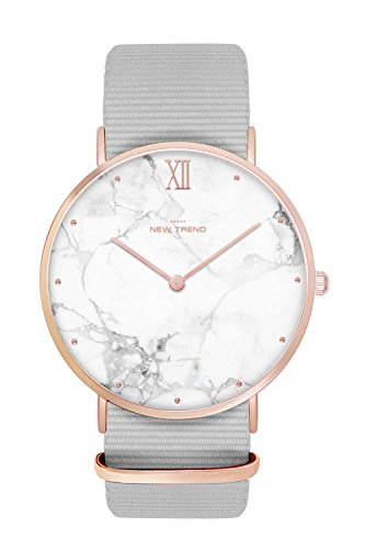 New Trend - Love for Accessories Damen Uhr analog Quarzwerk mit Nylon-Armband nt_07_01_parent4_000644