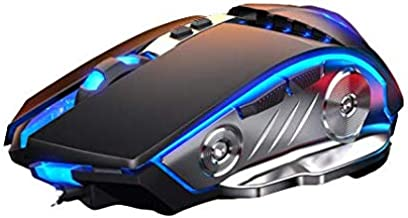 LENRUE Gaming Mouse Wired, Ergonomic Computer Mice with 6 Programmable Buttons, 4 Circular & Breathing LED Light, 4 Adjustable DPI Up to 3200 for PC Mac Laptop and Gamer