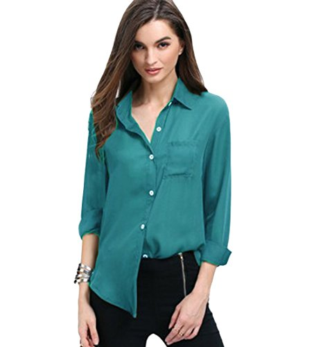 Blusa Gasa Blusas Manga Larga para Dama Camisas de Mujer Blusones Camisetas...