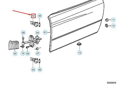 GTV INVESTMENTS 8 E31 bovenste scharnier van de rechter voordeur 41511970308 NIEUW ECHT