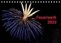 Feuerwerk (Tischkalender 2022 DIN A5 quer): Buntes Hoehenfeuerwerk im Nachthimmel (Monatskalender, 14 Seiten )