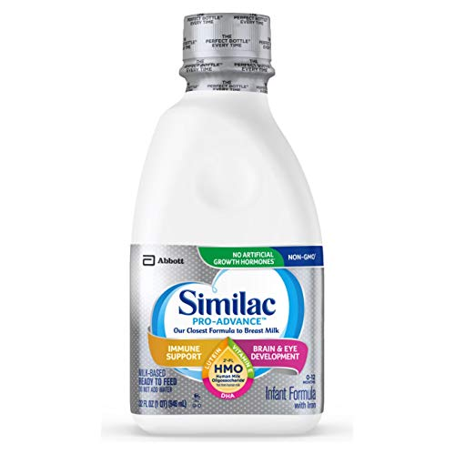 Similac Pro-Advance Infant Formula with 2'-FL Human Milk Oligosaccharide (HMO) for Immune Support, Ready to Feed, 1 qt (Pack of 6)