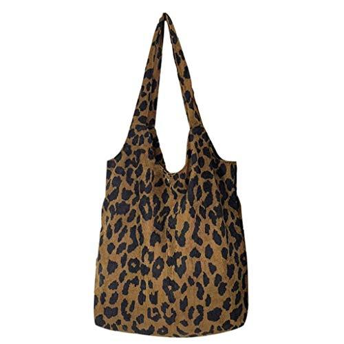 Frauen Leopard-Druck-handtaschen-Frauen-Schulter-handtaschen Sexy Damen-Geldbeutel-kurier-schul Ba Tragbare Einkaufstasche Tasche