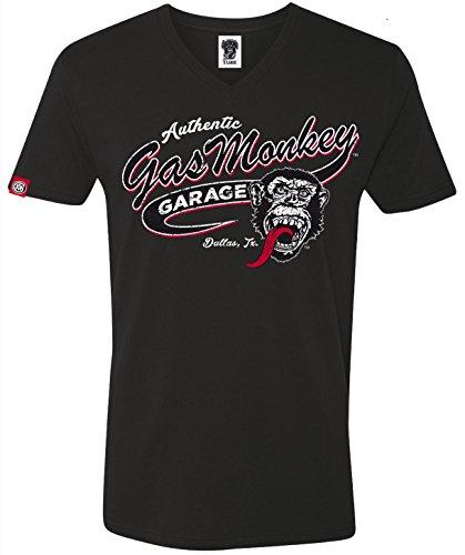 Gas Monkey Garage T-Shirt Vintage Athletic Black-S