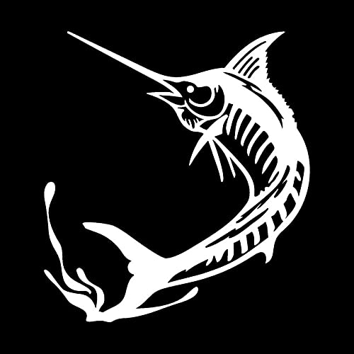 SHMAZ 11.5 * 12.7Cm Marlin Fishing Personality Reflective Car Decals Stickers Car Styling Accessories