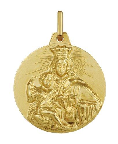 Www.diamants-perles.com-Medalla Baptème-virgen-Medalla religiosa con el niño, 20 mm, color amarillo, 750/1000