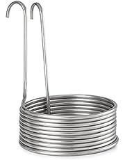 Klarstein Refrigerador de inmersión - Enfriador Espiral ascendente, Remojado malta, Diámetro 25,5 cm, Acero Inoxidable, Circuito refrigeración cerveza, 100°C a 20°C en 30 min