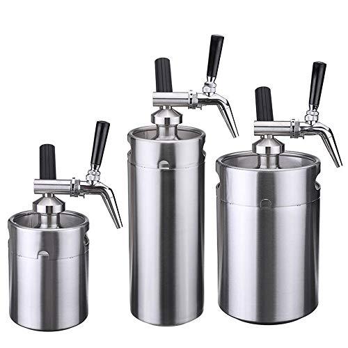 Coffee Machine 2L/4L/5L Brew Coffee Maker Mini Stainless Steel Keg Home Brew Coffee Cup Capsule Coffee Machine (Color : Photo colour, Size : 5L)