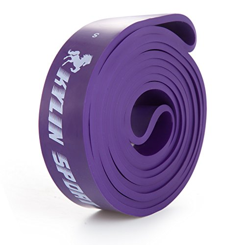 KYLIN SPORT Pull Up Training Yoga Pilates Elastic Loop Resistence Bands 35 to 85LBS Purple for Crossfit Gymnastics Workout