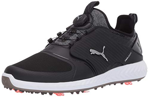 Puma Golf Men's Ignite Pwradapt Caged Disc Golf Shoe, Puma Black-Puma Silver-Puma Black, 13 M US