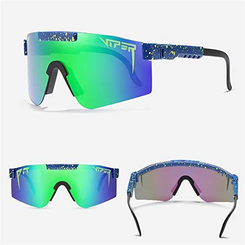 Pit Viper Polarisierte Sportsonnenbrille für Männer Frauen Jugend Baseball Radfahren Angeln Laufen Geeignet für Party, Reisen, Einkaufen, geeignet für alle Arten von Gesichtsformen (1 Stück, c12)