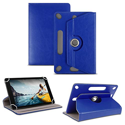 NAUC Tablet Tasche kompatibel für Medion Lifetab X10311 X10302 P10400 P10506 Standfunktion Hülle Schutztasche Schutzhülle Cover Universal Hülle 360° universelle Kamera Aussparung, Farben:Blau