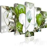 ZYBKOG Peinture sur Toile 5 Modulaire Décor À La Maison Photos 5 Pièces Élégantes Fleurs Peinture Imprimer Orchidées Fleur Affiche Mur Art